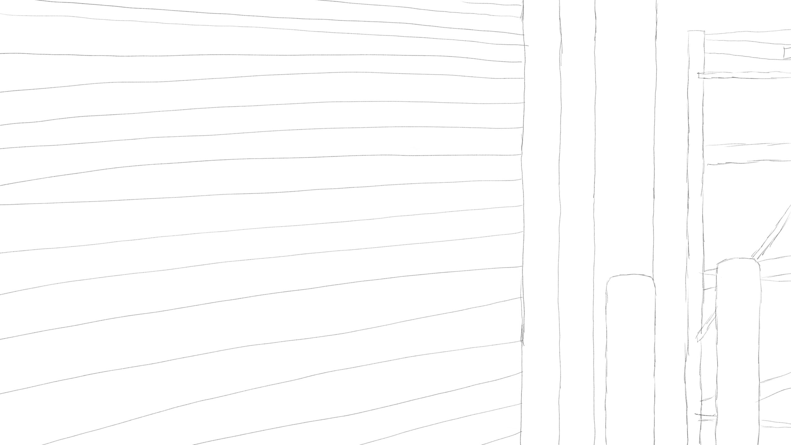 Pitney Bowes-RumbleOn concept art - close-up drawing of a garage door