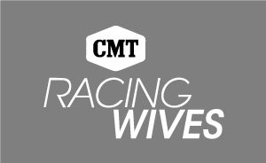 The Racing Wives logo with white text
